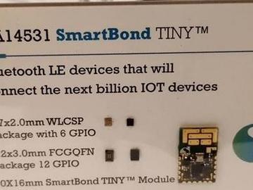 将蓝牙芯片打进3.5元,Dialog DA14531 SmartBond TINY开发板发布