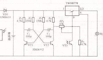 TWH8778全自动航标灯电路