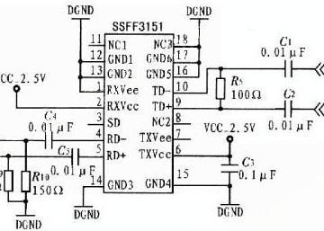 光收发器SSFF3151的电路原理图