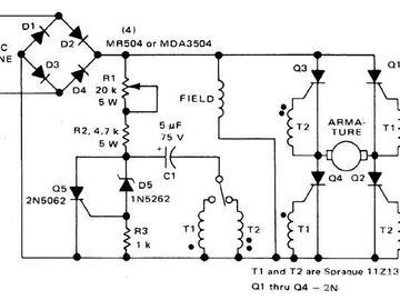分流绕电机的方向和速度控制电路图