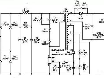 lm358碱性电池与2.75W中功率USB充电器充电电路图详解