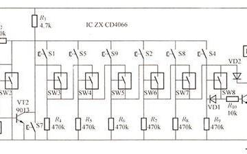 模拟开关密码锁电路