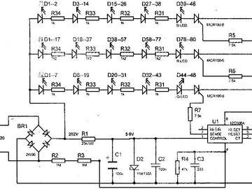 运用12C508A控制的LED循环点亮电路