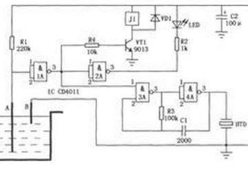 实用工业水位控制器电路图