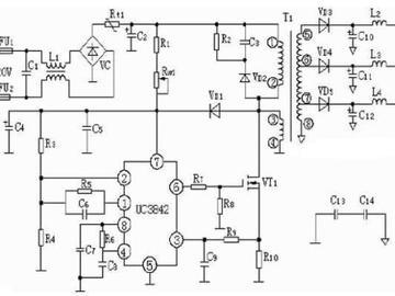 基于PWM开关电源集成控制器UC3842的开关电路电路设计