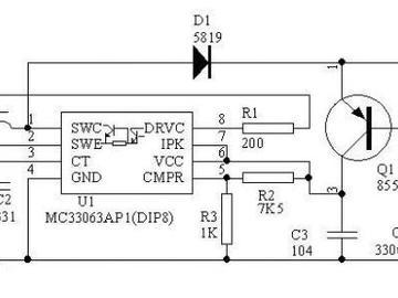 基于MC34063实现的3.6V转9V升压电路设计