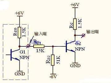 实用三极管反相器的电路图